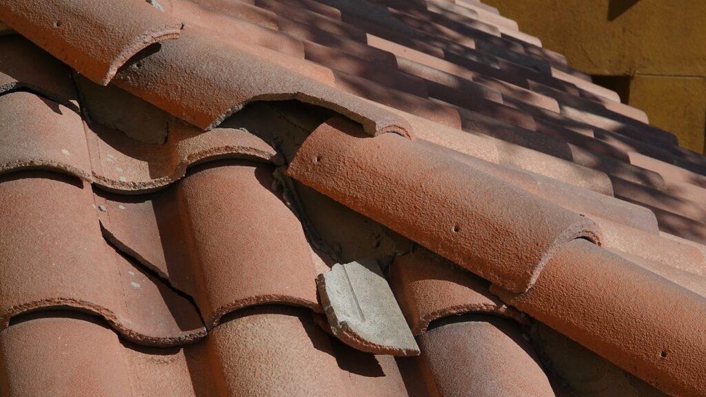 Broken roof tile - Service Fox