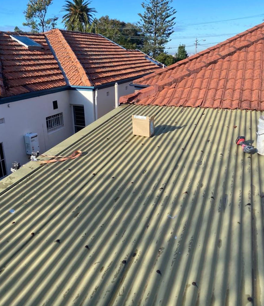 Roofing and painting at Service Fox
